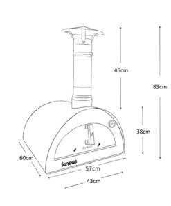 Igneus Bambino pizza oven - Dimensions
