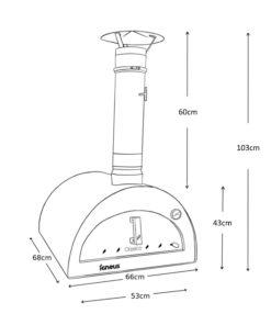Igneus Classico pizza oven - Dimensions