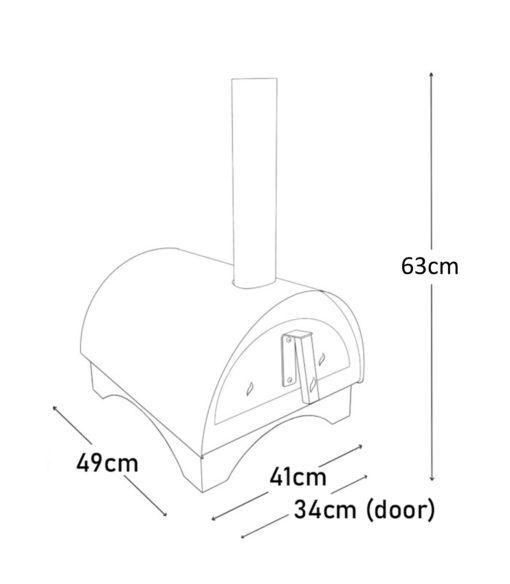 Igneus Minimo pizza oven - Dimensions